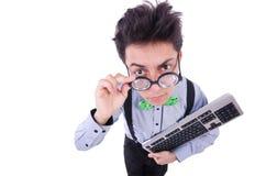 Υπολογιστής geek nerd Στοκ εικόνες με δικαίωμα ελεύθερης χρήσης