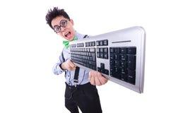 Υπολογιστής geek nerd Στοκ Εικόνες