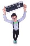 Υπολογιστής geek nerd Στοκ Εικόνα