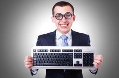 Υπολογιστής geek nerd Στοκ φωτογραφία με δικαίωμα ελεύθερης χρήσης