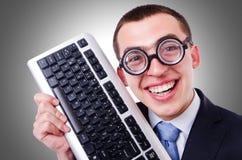 Υπολογιστής geek nerd Στοκ Φωτογραφία