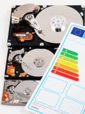 Υπολογιστής HDD και ενεργειακή αποδοτικότητα Στοκ Φωτογραφία