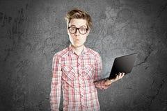 Υπολογιστής nerd Στοκ Φωτογραφίες