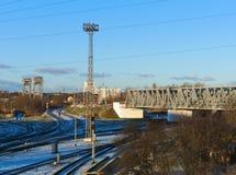 Υποδομή σιδηροδρόμων Στοκ εικόνες με δικαίωμα ελεύθερης χρήσης