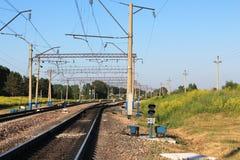 Υποδομή Double-track/σιδηροδρόμου διπλός-σωλήνων Στοκ φωτογραφία με δικαίωμα ελεύθερης χρήσης