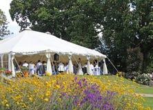 Υποδοχή κομμάτων γαμήλιων σκηνών στοκ φωτογραφία