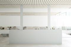 Υποδοχή στο ελαφρύ ξύλινο εσωτερικό διανυσματική απεικόνιση