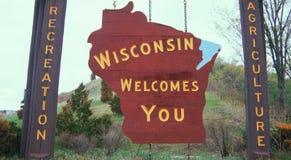 Υποδοχή στο σημάδι του Wisconsin στοκ εικόνες