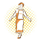 Υποδοχή Grandma Διανυσματικό συρμένο χέρι σκίτσο Στοκ Εικόνες