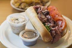 Υπο- σάντουιτς βόειου κρέατος ψητού Στοκ Φωτογραφίες