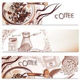 Υπόβαθρα καφέ καθορισμένα Στοκ εικόνες με δικαίωμα ελεύθερης χρήσης
