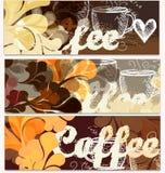 Υπόβαθρα καφέ Grunge καθορισμένα Στοκ Φωτογραφία
