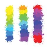 Υπόβαθρα παφλασμών χρώματος Ελεύθερη απεικόνιση δικαιώματος