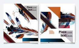 Υπόβαθρα που τίθενται με τα φτερά στο ρεαλιστικό ύφος Στοκ εικόνες με δικαίωμα ελεύθερης χρήσης