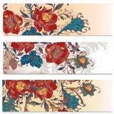 Υπόβαθρα που τίθενται στο floral ύφος Στοκ εικόνα με δικαίωμα ελεύθερης χρήσης