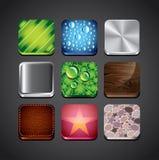 Υπόβαθρα σύστασης για app τα εικονίδια Στοκ Εικόνες
