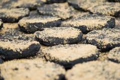 Υπόβαθρο άνθρακα, άνθρακας για τη θέρμανση Στοκ Εικόνες