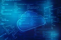 Υπόβαθρο έννοιας Διαδικτύου τεχνολογίας υπολογισμού σύννεφων ελεύθερη απεικόνιση δικαιώματος