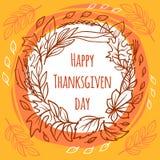 Υπόβαθρο έννοιας ημέρας των ευχαριστιών, συρμένο χέρι ύφος διανυσματική απεικόνιση