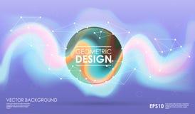 Υπόβαθρο έννοιας με τις γεωμετρικές μορφές poligonal Δημιουργικό σχεδιάγραμμα για την παρουσίαση ή τον ιστοχώρο Διανυσματική απεικόνιση