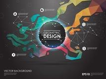 Υπόβαθρο έννοιας με τις γεωμετρικές μορφές poligonal Δημιουργικό σχεδιάγραμμα για την παρουσίαση ή τον ιστοχώρο Στοκ φωτογραφίες με δικαίωμα ελεύθερης χρήσης