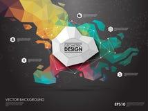 Υπόβαθρο έννοιας με τις γεωμετρικές μορφές poligonal Δημιουργικό σχεδιάγραμμα για την παρουσίαση ή τον ιστοχώρο Στοκ φωτογραφία με δικαίωμα ελεύθερης χρήσης