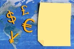 Υπόβαθρο έννοιας νομίσματος Στοκ εικόνες με δικαίωμα ελεύθερης χρήσης