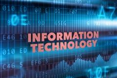 Υπόβαθρο έννοιας τεχνολογίας πληροφοριών διανυσματική απεικόνιση