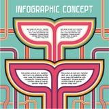 Υπόβαθρο έννοιας Infographic Στοκ φωτογραφία με δικαίωμα ελεύθερης χρήσης