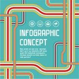 Υπόβαθρο έννοιας Infographic Στοκ Φωτογραφία