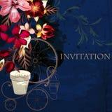 Υπόβαθρο ή απεικόνιση με hibiscus τα λουλούδια στο αναδρομικό ύφος Στοκ φωτογραφίες με δικαίωμα ελεύθερης χρήσης