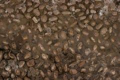 Υπόβαθρο ή σύσταση τοίχων αμμοχάλικου στοκ φωτογραφία με δικαίωμα ελεύθερης χρήσης