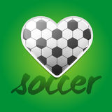 Υπόβαθρο αγάπης ποδοσφαίρου απεικόνιση αποθεμάτων