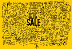 Υπόβαθρο αγορών σχεδίων χεριών Στοκ εικόνες με δικαίωμα ελεύθερης χρήσης
