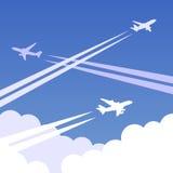 Υπόβαθρο 01 αεροπλάνων ουρανού Στοκ εικόνα με δικαίωμα ελεύθερης χρήσης