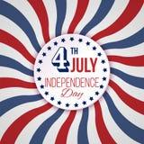 Υπόβαθρο ΑΜΕΡΙΚΑΝΙΚΗΣ ημέρας της ανεξαρτησίας Διανυσματική απεικόνιση στα χρώματα της αμερικανικής σημαίας 4 Ιουλίου εθνικός εορτ απεικόνιση αποθεμάτων