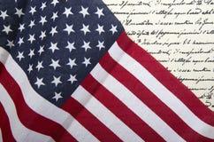 Υπόβαθρο 2 αμερικανικών σημαιών Στοκ εικόνες με δικαίωμα ελεύθερης χρήσης