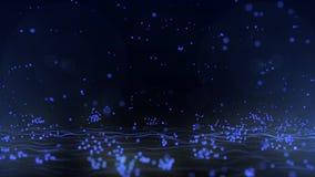 Υπόβαθρο αναπήδησης μορίων διανυσματική απεικόνιση