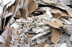 Υπόβαθρο αποβλήτων κατασκευής Στοκ Εικόνες