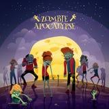 Υπόβαθρο αποκάλυψης Zombie ελεύθερη απεικόνιση δικαιώματος