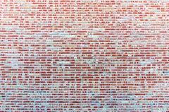Υπόβαθρο από ένα κόκκινο brickwall Στοκ Εικόνα
