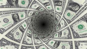 Υπόβαθρο από τα αμερικανικά τραπεζογραμμάτια δολαρίων στην άποψη προοπτικής απόθεμα βίντεο
