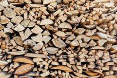 Υπόβαθρο από τα πρόσωπα τελών των φρέσκων ξύλινων φραγμών μιας διαφορετικής μορφής Στοκ Φωτογραφία