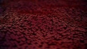 Υπόβαθρο από την κίνηση του κόκκινου κύβου με τις μαλακές άκρες απεικόνιση αποθεμάτων