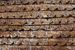 Υπόβαθρο από τις σκουριασμένες πόρτες σιδήρου Στοκ Εικόνες
