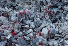 Υπόβαθρο από το κάψιμο του άνθρακα Στοκ Εικόνα