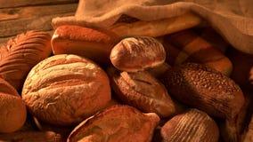 Υπόβαθρο αρτοποιείων ψωμιού απόθεμα βίντεο