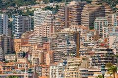 Υπόβαθρο αρχιτεκτονικής του Μονακό, Μόντε Κάρλο στεγάζει πολλών Στοκ Εικόνες