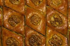 Υπόβαθρο - ασιατικό baklava γλυκών Στοκ Φωτογραφία