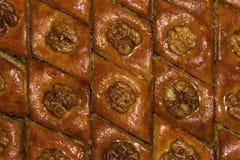 Υπόβαθρο - ασιατικό baklava γλυκών Στοκ Εικόνες